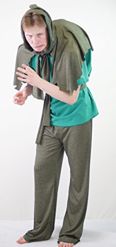 [Dance-Stage-Panto-World Book Day-Fancy Dress-Quasimodo HUNCHBACK NOTRE DAME Child's Costume - All Ages] (Quasimodo Costume Uk)