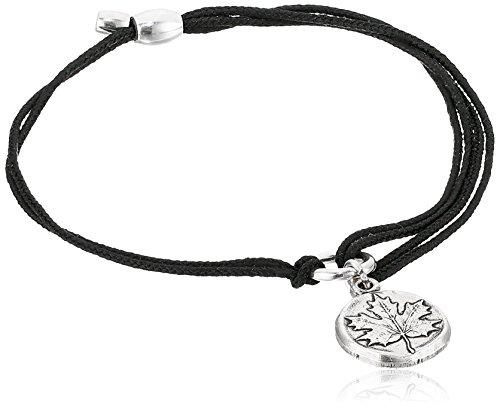 (Alex and Ani Kindred Cord Maple Leaf Black Bracelet )