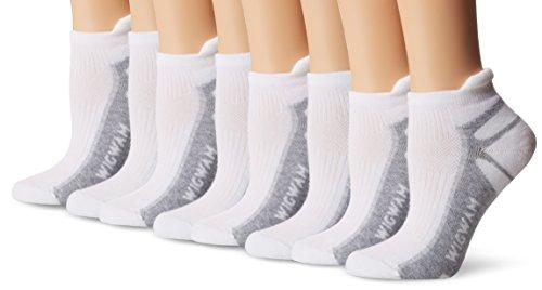 Wigwam Women's Ironman Thunder Pro Low Cut Running Sock 3-Pack, White/White/White, Medium