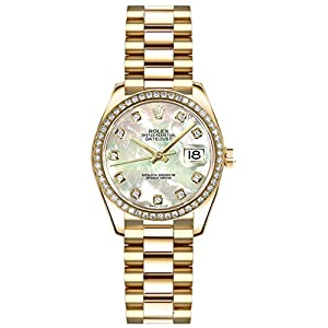 Best Epic Trends 41-GlI6%2BPcL._SS300_ Rolex Lady-Datejust 26 Mother of Pearl Diamond Dial Gold Watch Ref. 179138