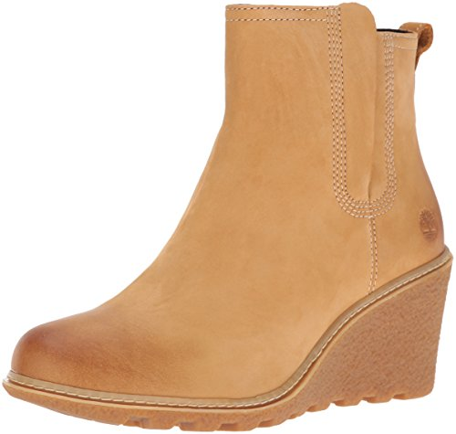Timberland Women's Amston Chelsea Boot, Black Wheat Nubuck
