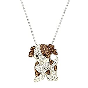 Lola Bella Gifts Crystal Cavalier King Charles Spaniel Dog Pendant Necklace with Gift Box 1