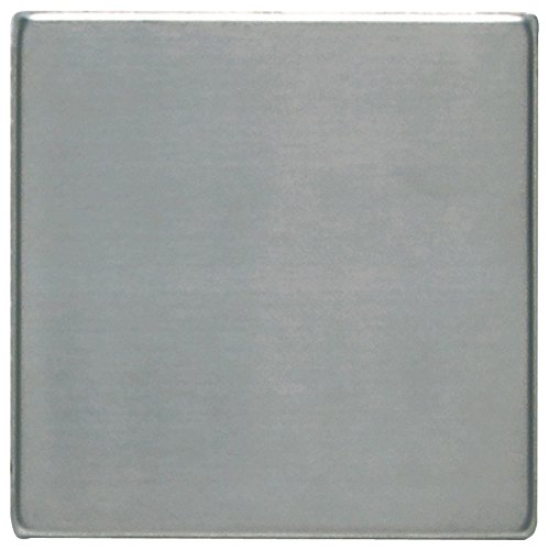 Dal-Tile 441P-SS50 Metallica Tile, 4'' x 4'', Brushed Stainless Steel