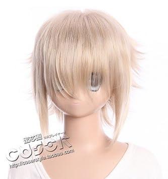 Kawaii-Story W de 309 Anime Manga Peluca Wig Rubio Blonde Gestuft hitzefest 30 cm