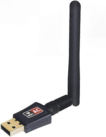 Maxesla Adaptador WiFi USB Inalámbrico Ca de Doble Banda 24/5 GHz, 600 MBps, para Ordenador/Portátil/Tableta
