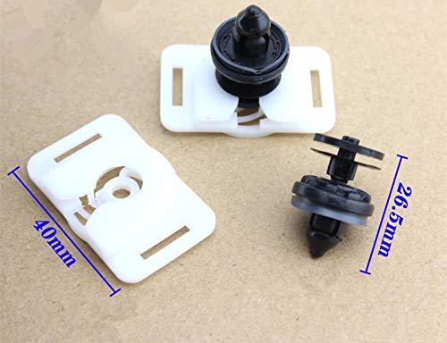 Fastener & Clip 15PCS for Ford Focus Mondeo Plastic Fasteners for Door Panel Liner Skirt Trim Strip Buckle Clip