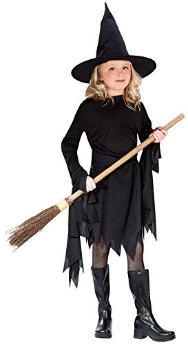 Fun World Little Girl's Lg Child Witchy Witch Cstm Childrens Costume, Multi, Large]()