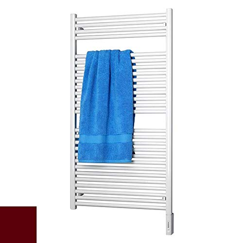(Runtal RTRED-2924-3005 Radia Electric Towel Radiator Direct Wire 29-in H x 24-in W Wine Red)