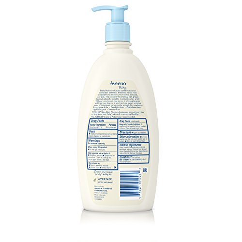 Large Product Image of Aveeno Baby Daily Moisture Lotion with Natural Colloidal Oatmeal & Dimethicone, Fragrance-Free, 18 fl. oz