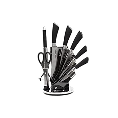 Ross Henery Professional Knives , 8 Piece Stainless Steel Kitchen Knife Set In Acrylic Block / Stand