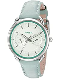 Fossil Women's Tailor ES3951 Green Leather Quartz Watch