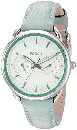 Fossil Women's ES3951 Tailor Multifunction Sea Glass Leather Watch
