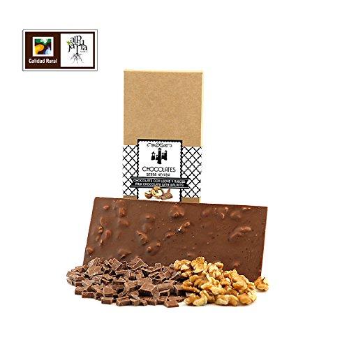 Chocolate artesano con leche y nueces