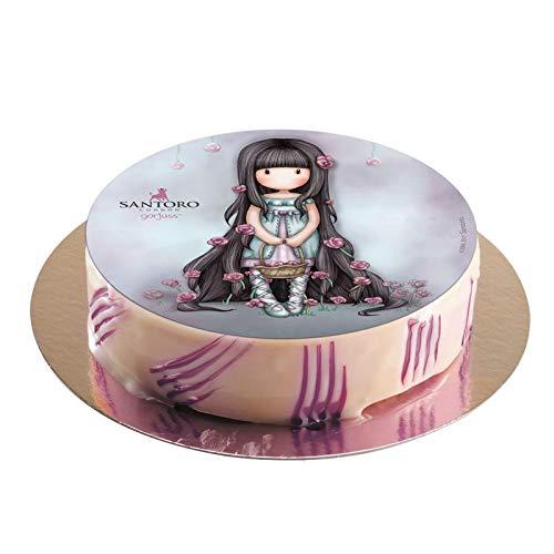 Oblea de Tarta con Diseño Oficial de Gorjuss Santoro 20cm: Amazon.es: Alimentación y bebidas