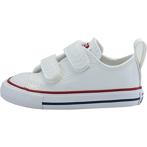 Converse Chuck Taylor All Star 2V Infant Optical White Leather 3 M ... 86e2ca23c