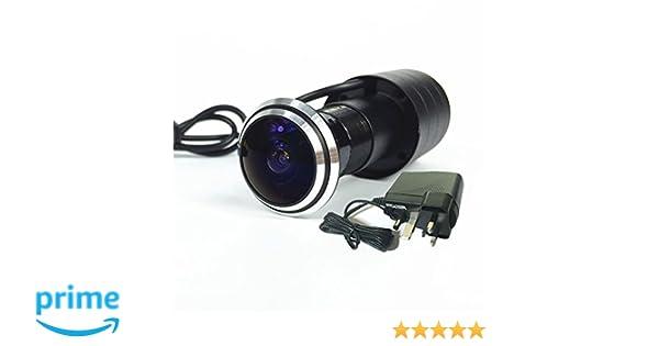 Cámara de seguridad de ojo para mirilla de puerta de Shrxy; detección de ángulo de 170 grados: Amazon.es: Electrónica