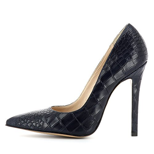 de vestir para Shoes de Evita azul mujer Zapatos Piel Lisa oscuro H4qnw1