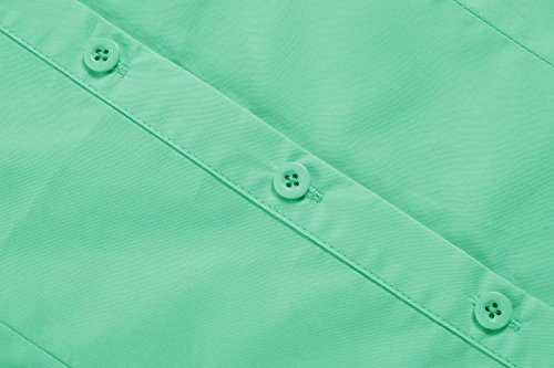Hotouch Womens Long Sleeve Button Down Shirt with Stretch (Green M) by Hotouch (Image #5)