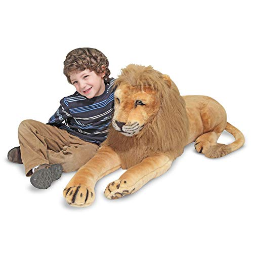 Melissa & Doug Giant Lion - Lifelike Stuffed Animal (over 6 feet long) -
