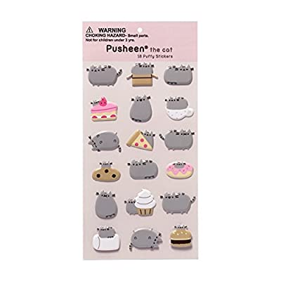 Cat Fan related Products GUND Pusheen 18 Sticker Sheet [tag]