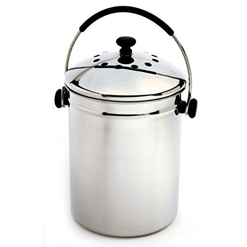 Norpro 95 Frip-EZ Stainless Steel Composter Compost Keeper - Stainless Steel Composter Keeper