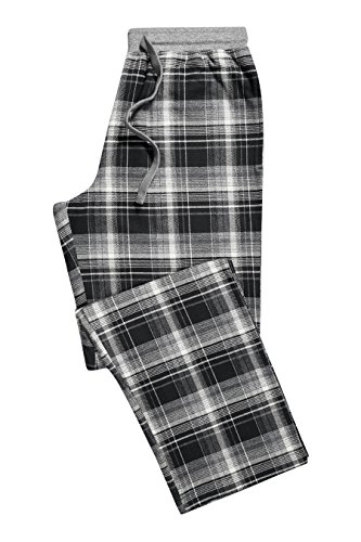 next Men Black And Grey Check Woven Long Nightwear Bottoms Trousers - Woven Mens Trousers