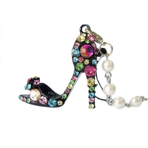 Gleader Ciondolo scarpe con tacco alto in strass cristallo diamante Decorazione per auto regalo borsa telefono portachiavi - Perfetto per borsa telefono del telefono e chiave di donna e ragazza