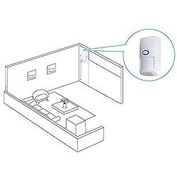 Unitedheart Ct60-433 Wireless Anti-Pet Detector Infrared Probe Human Body Sensor Pet Immune Pir Detector for Alarm Security System Mini Speaker