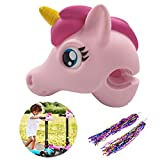 PalkSky Unicorn Scooter Accessories - Unicorn Toy Horse Head Gifts for Toddlers Kids Girls Micro Mini T-Bar Kick Scooter Bike Decoration (Pink) Safety Protection Toys with a Pair of Streamers
