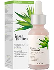 InstaNatural - Skin Brightening Serum with Vitamin C - Advanced Antioxidant Serum for Firming Wrinkles, Fine Lines - Lightening Dark Spots, Hyperpigmentation - With Hyaluronic and Niacinamide - 1oz