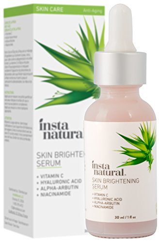 InstaNatural - Skin Brightening Serum with Vitamin C - Advanced Antioxidant Serum for Firming Wrinkles, Fine Lines - Lightening Dark Spots, Hyperpigmentation - With Hyaluronic and Niacinamide - 1oz ()