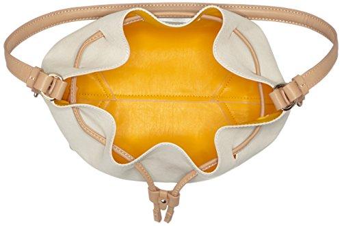 Trussardi 75bp0453, Borsa a secchiello Donna 34x33x14 cm (W x H x L) Multicolore (Burro/Yellow)