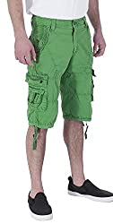 Vertical Sport Men's Twill Cargo Shorts Quick-dry Summer Shorts (30W 5007 Black)