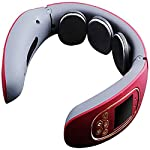 GGGGG Smart Neck Massager, Electric Pulse Neck Massager Far Infrared Heating Pain Relief Health Care Relaxation Tool