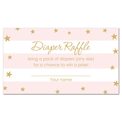 MyExpression.com 48 Twinkle Twinkle Little Star Diaper Raffles (Pink)