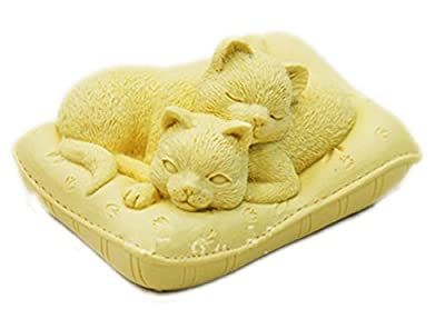 Longzang Cat mould S298 Craft Art Silicone Soap mold Craft Molds DIY Handmade soap molds from Longzang