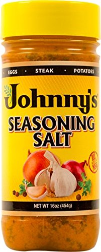 Johnny's Fine Foods Seasoning Salt, 16 Ounce (Pack of 2) by Johnny's
