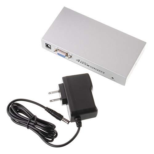 Dalkeyie 4 Port VGA XGA SVGA HD15 Video Splitter PC Laptop to TV LCD Monitor Display