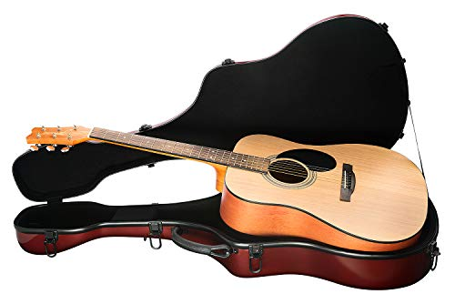 Knox KN-FGGC01M Maroon Fiberglass Acoustic Guitar Case