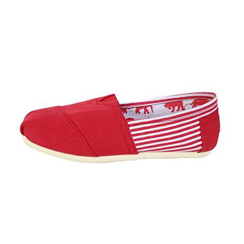Flats On Unisex Casuale Donna Rosso Moda Scarpe Durevole Slip Uomo Loafers Basse Espadrillas Dooxii PZq76R6