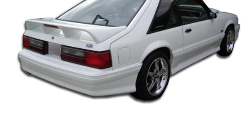 (Duraflex ED-EFS-293 Cobra R Rear Bumper Cover - 1 Piece Body Kit - Compatible For Ford Mustang 1979-1993)