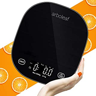 Food Scale - Arboleaf Kitchen Scale with 1g/0.1oz Precision, 4 Units, Tare Function, Food Scales Digital Weight Grams and Oz for Baking and Cooking, Large White LED Display, Tempered Glass, Smart App