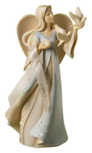 Enesco Foundations Bereavement Angel Stone Resin Figurine, 9
