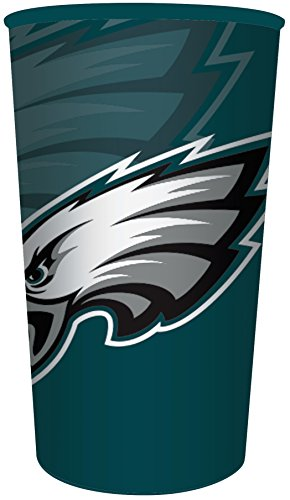 Plastic Nfl Football Cup (Creative Converting Officially Licensed NFL Plastic Souvenir Cups, 20-Count, 22-Ounce, Philadelphia Eagles)