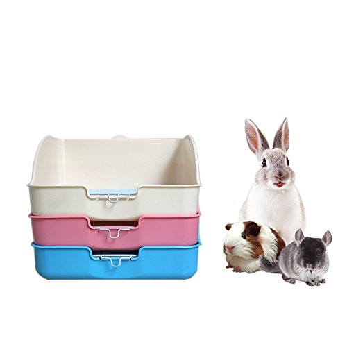 HongYH Pet Small Rat Toilet, Square Potty Trainer Corner Litter Bedding Box Pet Pan for Small Animal/rabbit/guinea Pig/galesaur/ferret(Grey) by HongYH (Image #4)