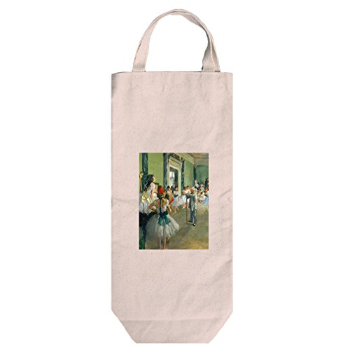 Ballet Class (Degas) Cotton Canvas Wine Bag Tote With Handles Wine Bag (Degas Bag Ballet)