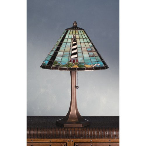 Cape Hatteras Lighthouse Table Lamp - Meyda Tiffany Vintage Table Lamp