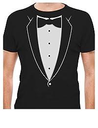 Tstars - Printed Tuxedo Tux Tshirt Bow tie Fancy Party Suit Funny T-Shirt