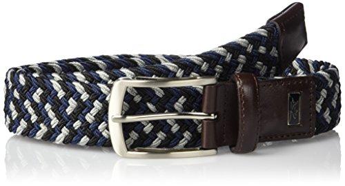 Greg Norman Men's Multi Colored Belt, Gray/Navy/black, 38 (Greg Norman Apparel)