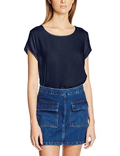 Vero Moda Boca Ss Blouse Noos, Camiseta para Mujer Azul (Navy Blazer)